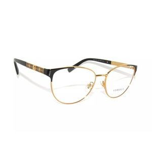Versace Metal Glasses 1238 Black And Gold Frame